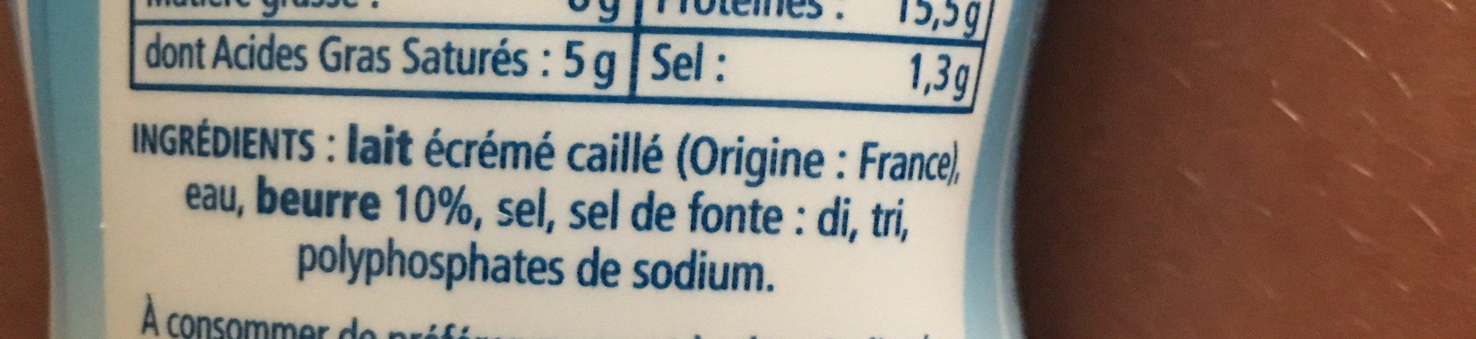 Cancoillotte - Ingrédients - fr