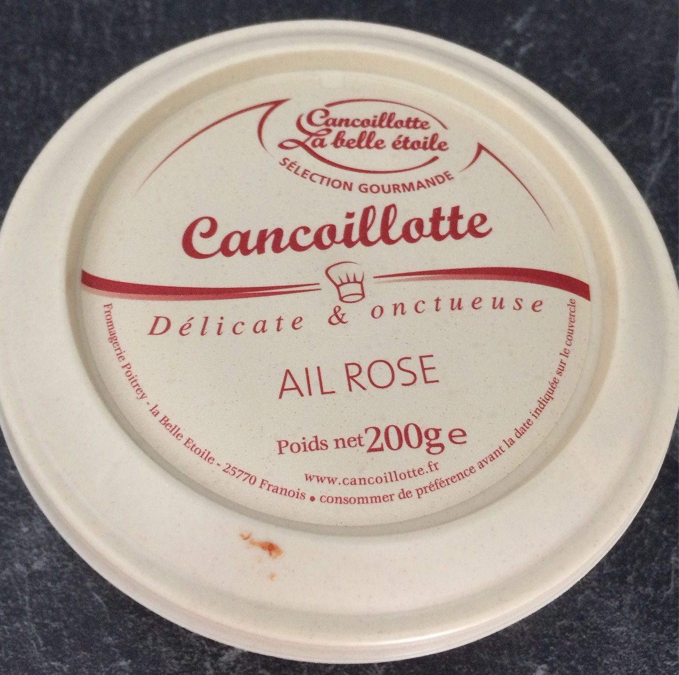 Cancoillotte ail rose - Product