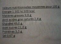 Tarte Myrtilles - Nutrition facts - fr