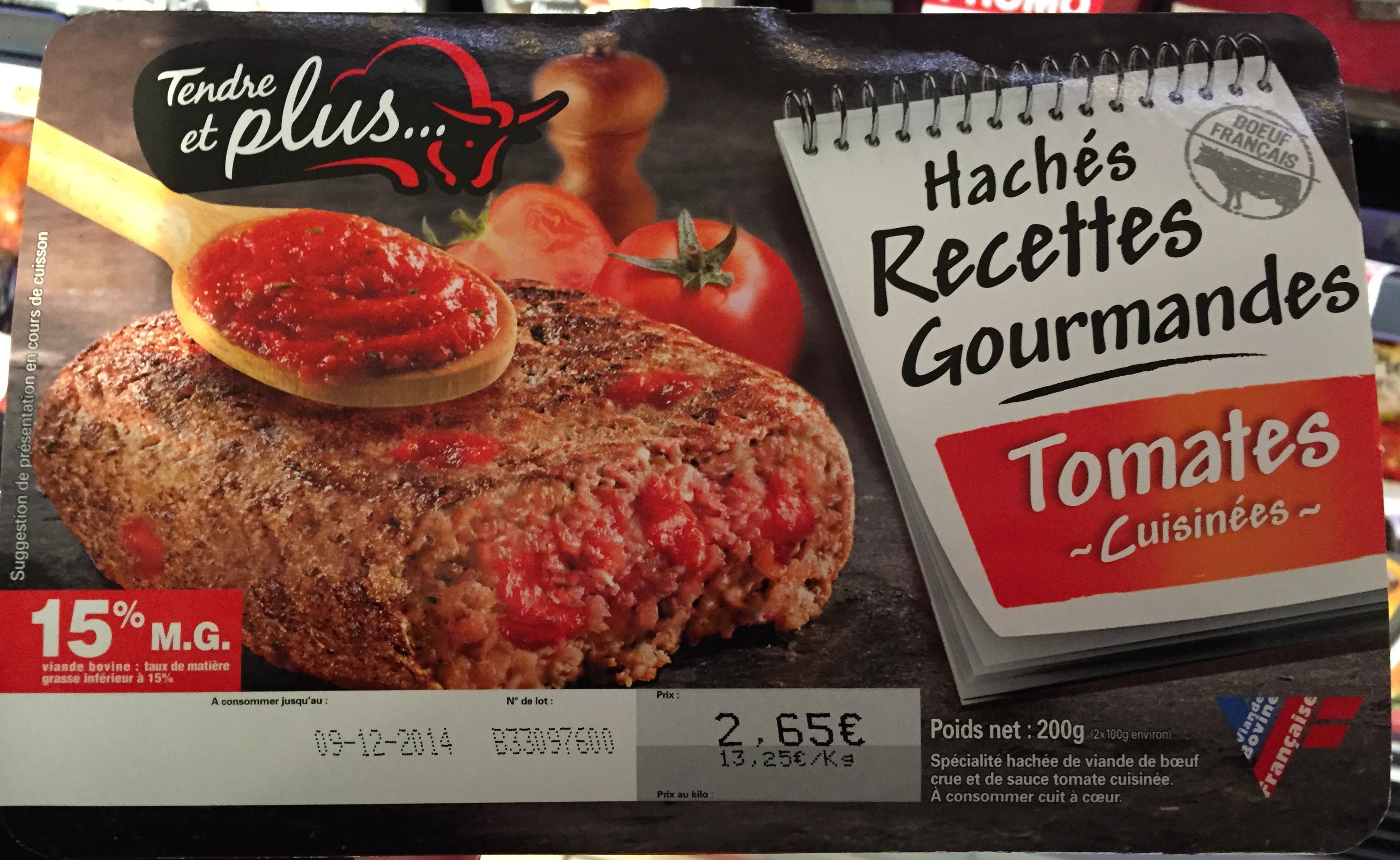 Hachés recettes gourmandes Tomates cuisinées - Product