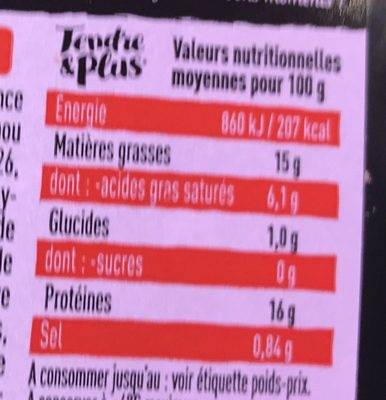 Idée! Hamburger - Nutrition facts