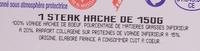Steak Haché - Ingrédients - fr
