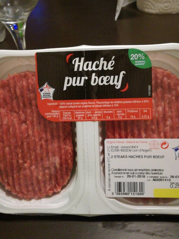 Steaks Haches 20% MG - Voedigswaarden