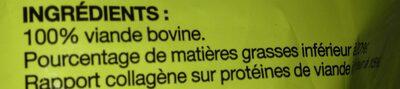 1ER PRIX : Viande Hachée de Boeuf, 20% M.G - Ingrédients - fr