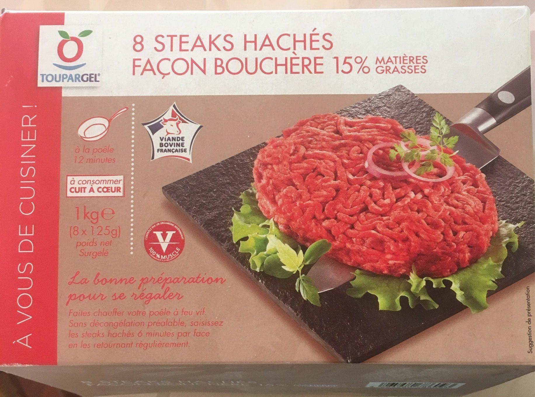 8 steaks hachés façon bouchère - Produit