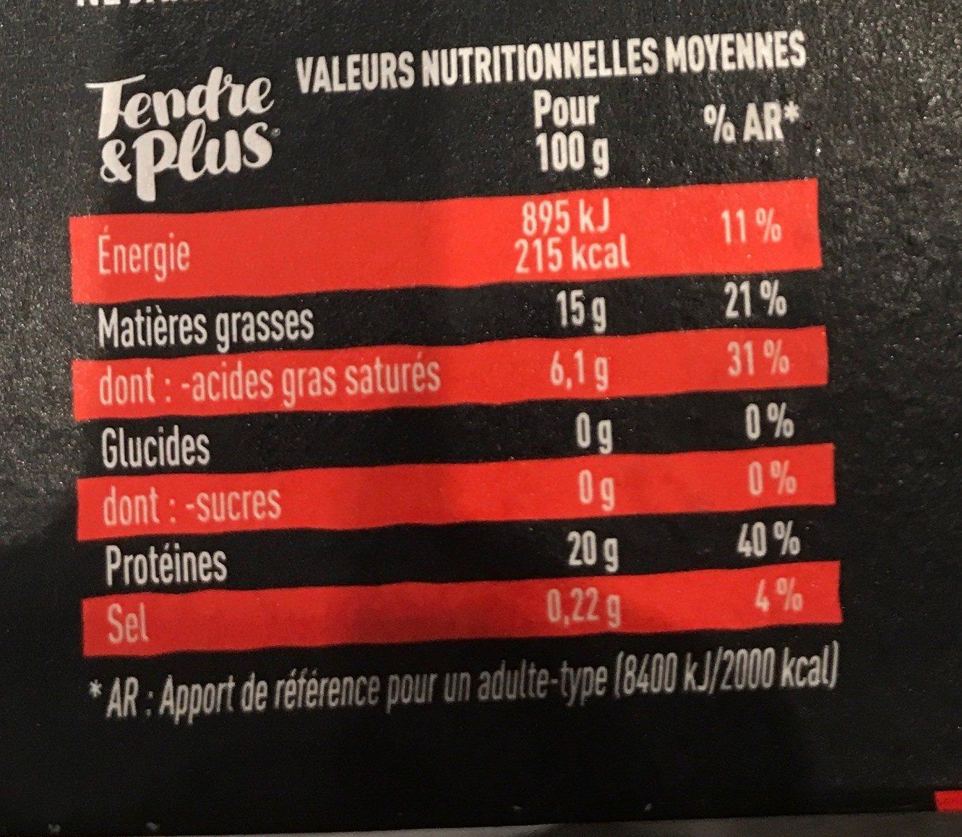 Tendre & Plus Race Normande Façon Bouchère - Ingredients - fr