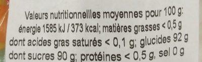Oeufs delice confiseur - Nutrition facts