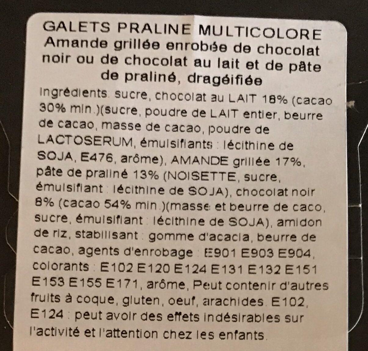 Galets praline multicolore - Ingrédients - fr