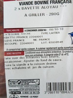 2 bavettes bœuf - Ingrediënten