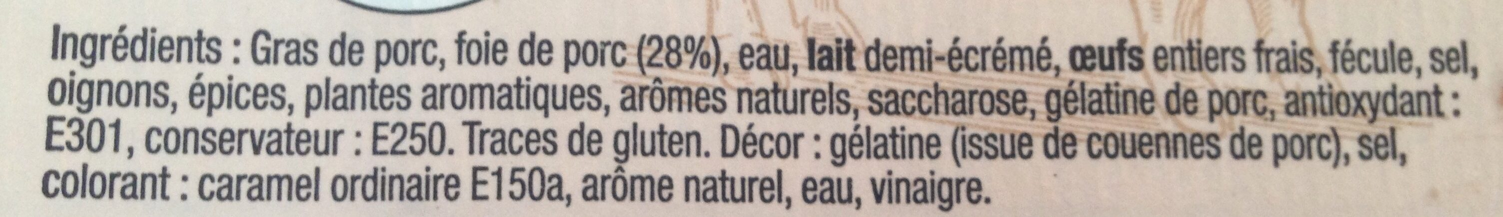Mousse de foie superieure - Ingrediënten - fr