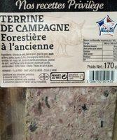 Terrine de Campagne Forestière à l'Ancienne - Produit