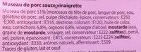 Museau de porc sauce vinaigrette - Ingrédients - fr