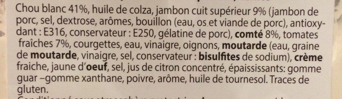 Trio de Chou Jambon et Comté - Ingrédients - fr