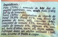 Tortellini bœuf bolognaise - Ingredients