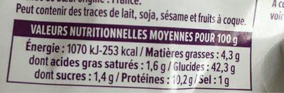 Tortellini bœuf bolognaise - Nutrition facts