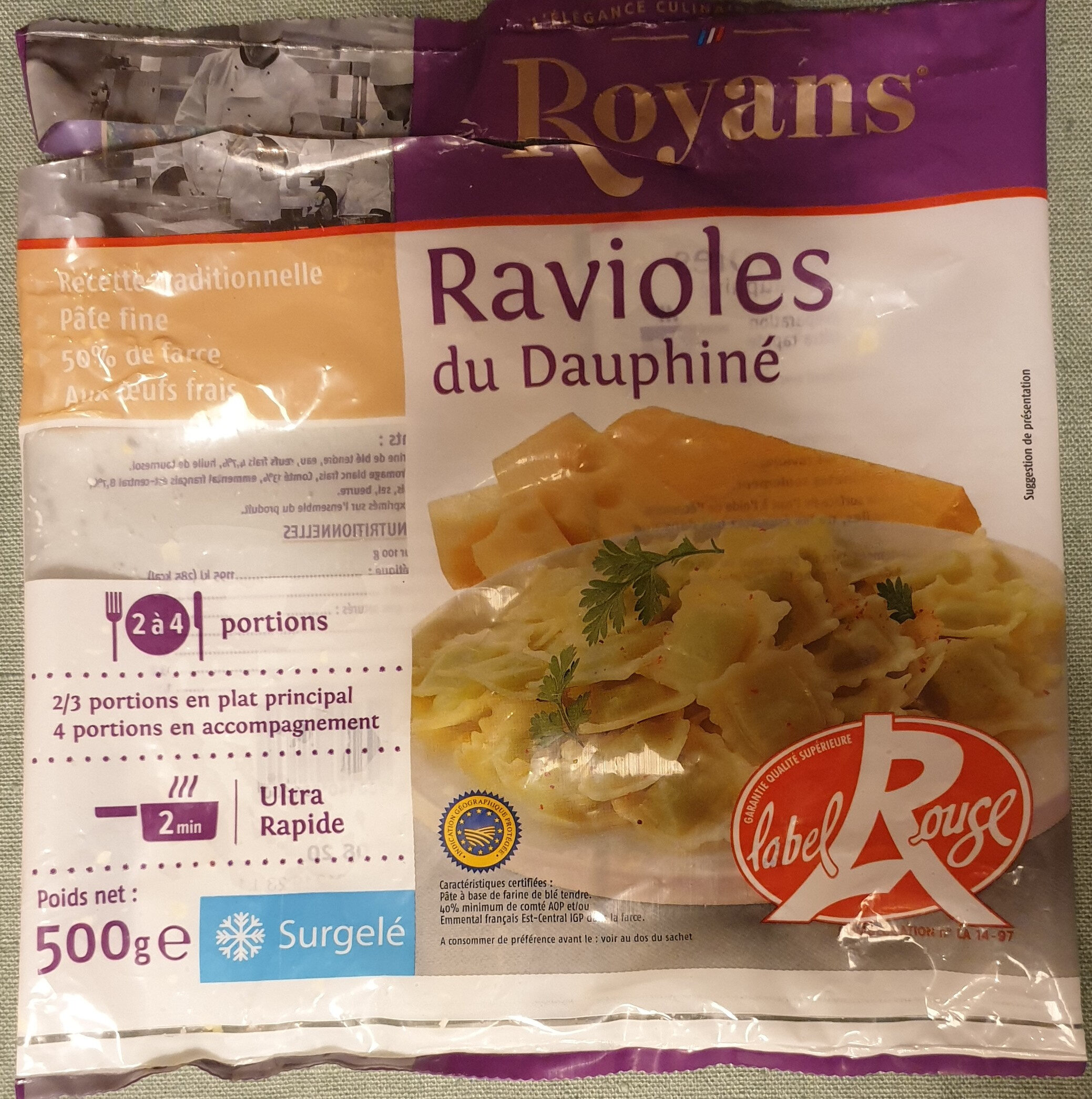 Ravioles du Dauphiné surgelées - Produit - fr