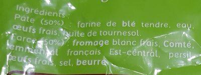Ravioles du Dauphiné AOP Label Rouge - Surgelées - Ingrédients - fr