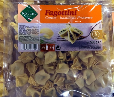 Fagottini Comté - Basilic de Provence - Produit