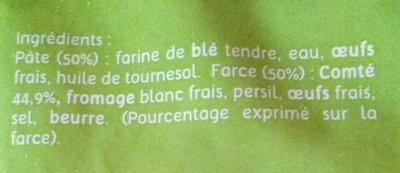 Ravioles du Dauphiné - Ingredienti - fr