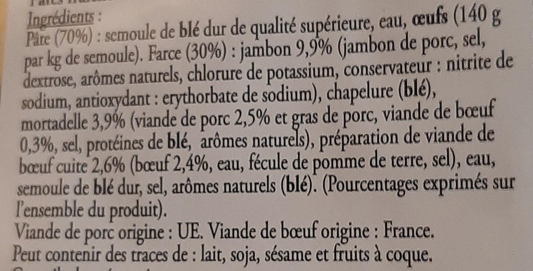 Ravioli à la viande - Ingrédients - fr