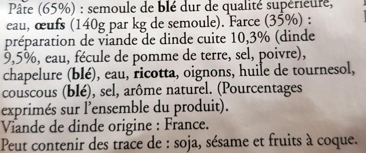 Tortellini à la Volaille - Ingrédients