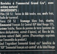 Ravioles Emmental Grand cru - Ingrédients - fr