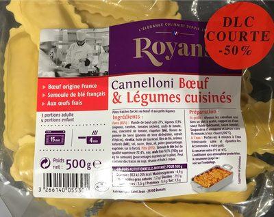 Canelloni Boeuf & légumes cuisinés - Produit - fr