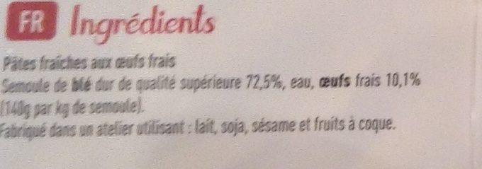 St Jean tagliatelles - Ingrediënten - fr