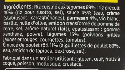 Risotto Poulet rôti & Légumes du soleil - Ingrédients