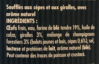 Suprêmes soufflés cèpes girolles - Ingrédients