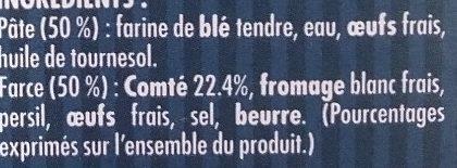 Ravioles du Dauphiné au comté - Ingrédients - fr