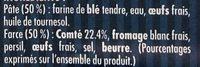 Ravioles du Dauphiné Comté AOP - Ingrédients