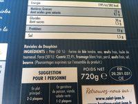 Ravioles du dauphine - Ingrédients