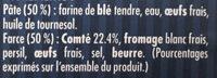 Ravioles du Dauphiné au Comté AOP - Ingrédients