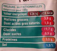 Riz à pôeler légumes soleil parmesan SAINT JEAN, 300G - Voedingswaarden
