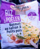 Riz à pôeler basmati safran petits pois SAINT JEAN, 300G - Produit - fr