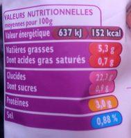 Riz à pôeler basmati safran petits pois SAINT JEAN, 300G - Informations nutritionnelles - fr