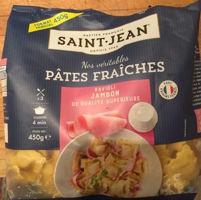 Nos véritables Pâtes fraîches raviolis jambon - Produit