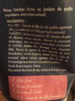 Nos véritables Pâtes fraîches raviolis jambon - Ingrédients