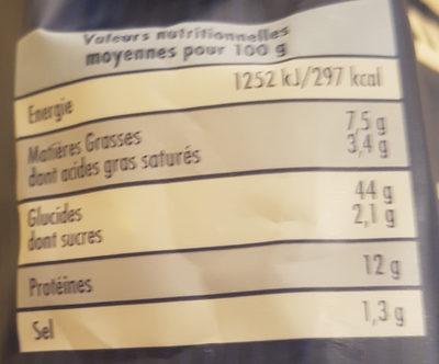 Ravioli gorgonzola &  jambon cru  SAINT-JEAN - Informations nutritionnelles - nl