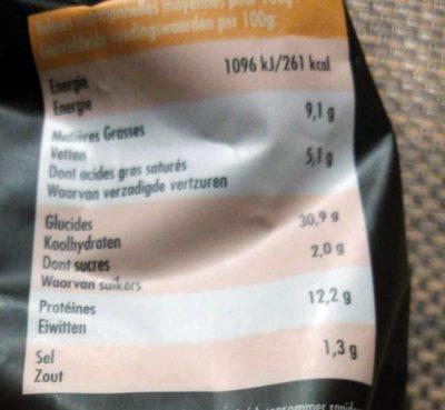 Ravioli Emmental & Chorizo - Informations nutritionnelles - fr