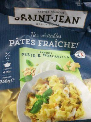 Pates fraîches ravioli pesto-mozarella - Produit