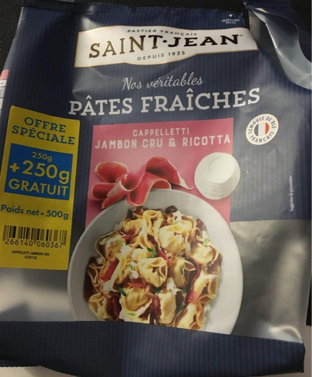 Pates fraiches cappelletti jambon cru et ricotta - Produit - fr