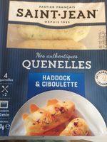 Quenelles de haddock à la ciboulette - Produit