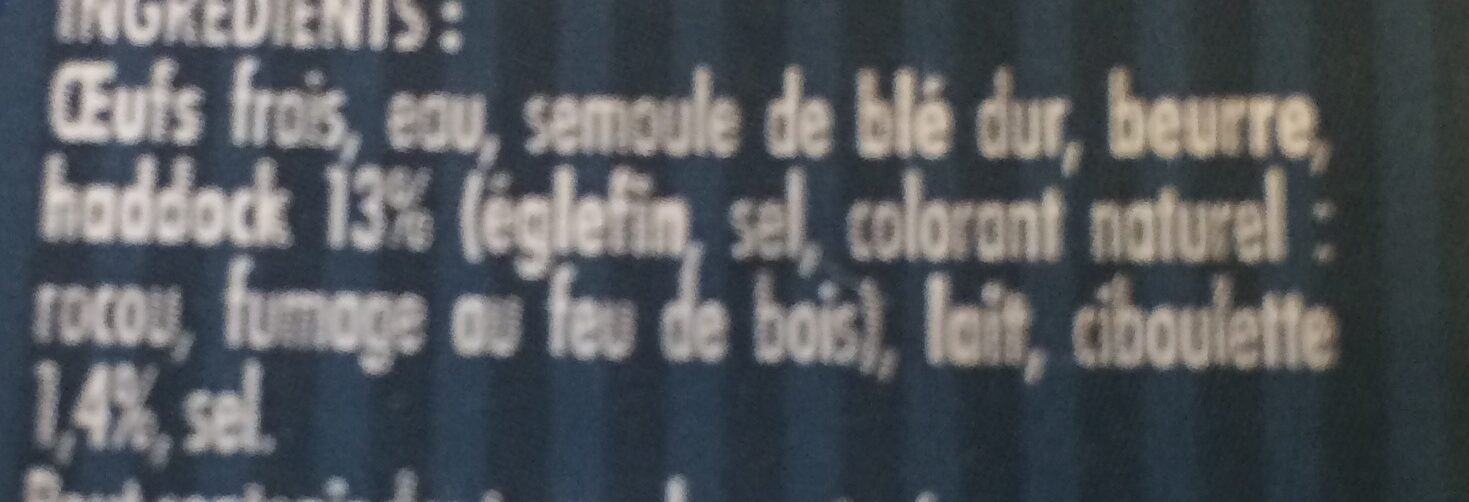 Quenelles de haddock à la ciboulette - Ingrédients - fr