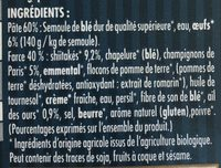 Ravioli champignons et ail des ours - Ingrédients