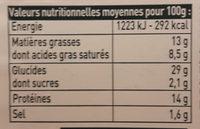 Ravioles - Informations nutritionnelles - fr