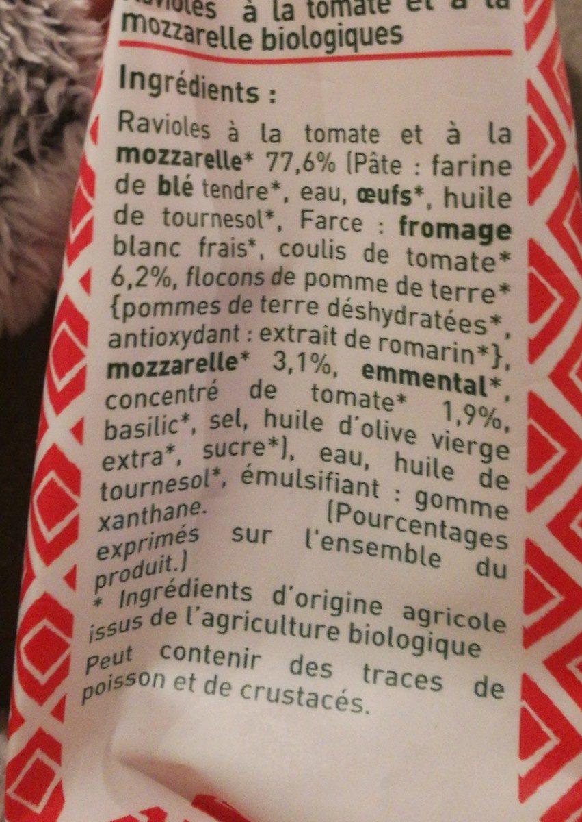 Ravioles à poêler - Tomate - Mozzarelle - Ingrédients - fr