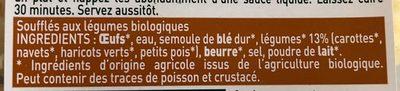 Soufflés petits légumes - Ingredients - fr