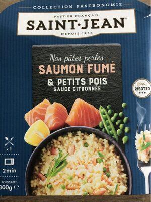 Nos pâtes perles saumon fumé et petits pois sauce citronnée - Product